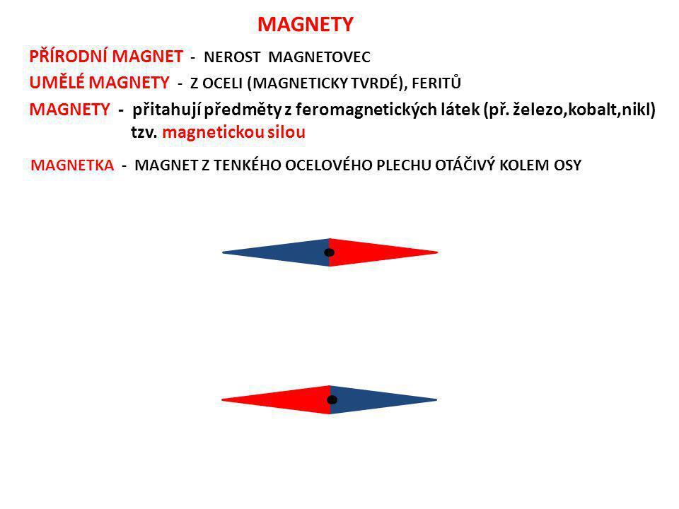 MAGNETY PŘÍRODNÍ MAGNET - NEROST MAGNETOVEC