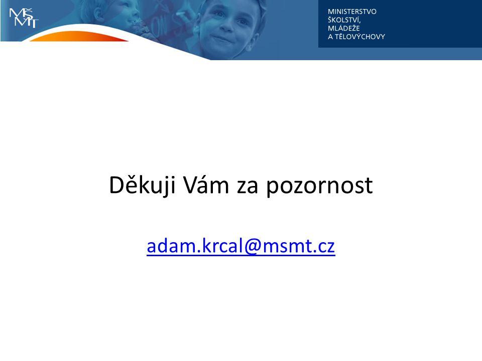 Děkuji Vám za pozornost adam.krcal@msmt.cz