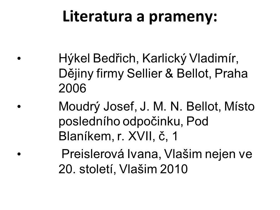 Literatura a prameny: Hýkel Bedřich, Karlický Vladimír, Dějiny firmy Sellier & Bellot, Praha 2006.