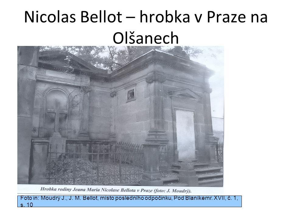 Nicolas Bellot – hrobka v Praze na Olšanech