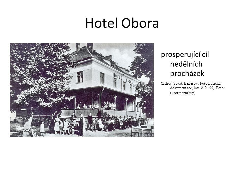Hotel Obora prosperující cíl nedělních procházek