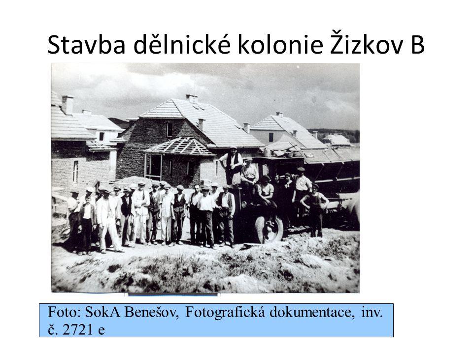 Stavba dělnické kolonie Žizkov B