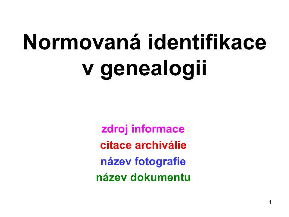 Normovaná identifikace v genealogii
