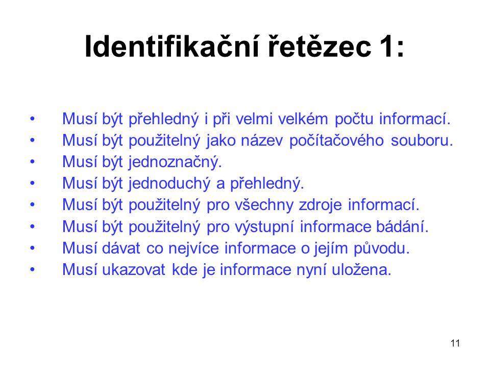 Identifikační řetězec 1: