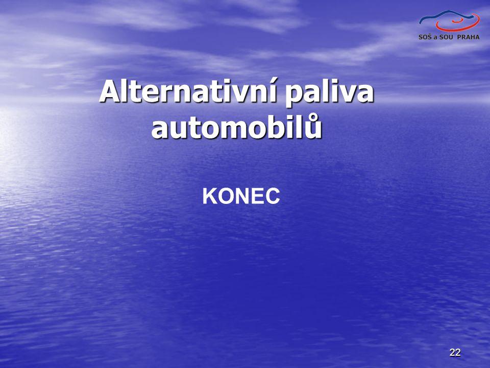 Alternativní paliva automobilů