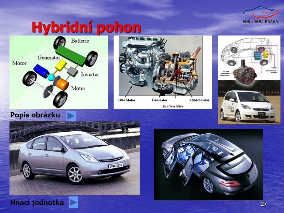 Hybridní pohon Popis obrázku Hnací jednotka