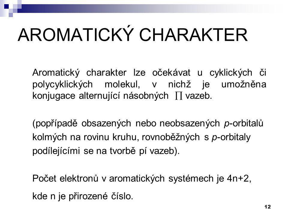 AROMATICKÝ CHARAKTER