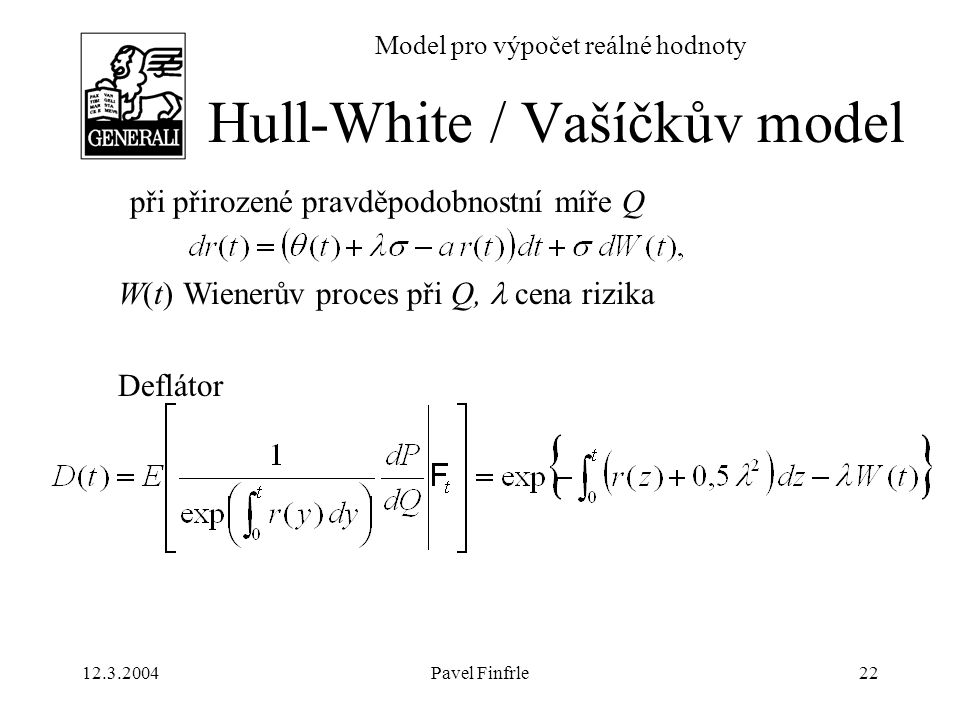 Hull-White / Vašíčkův model