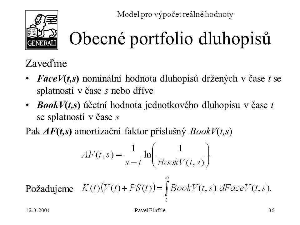 Obecné portfolio dluhopisů