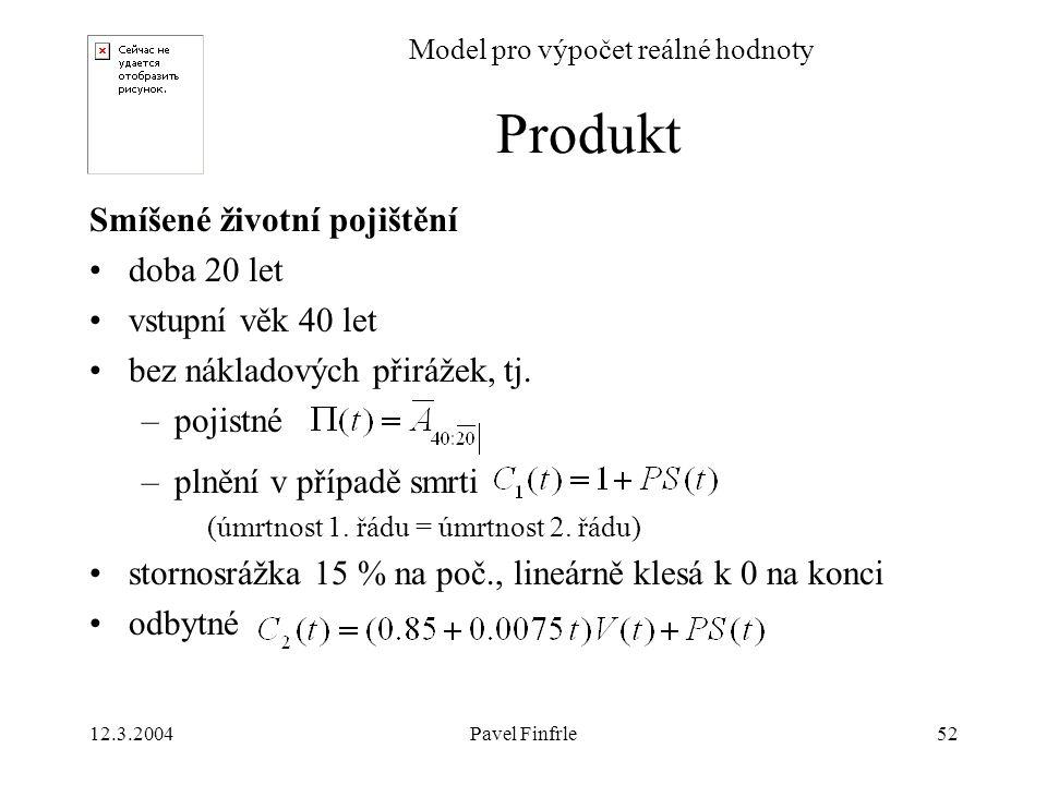Model pro výpočet reálné hodnoty