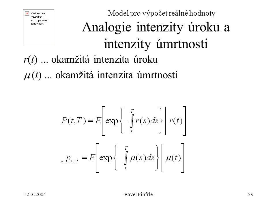Analogie intenzity úroku a intenzity úmrtnosti