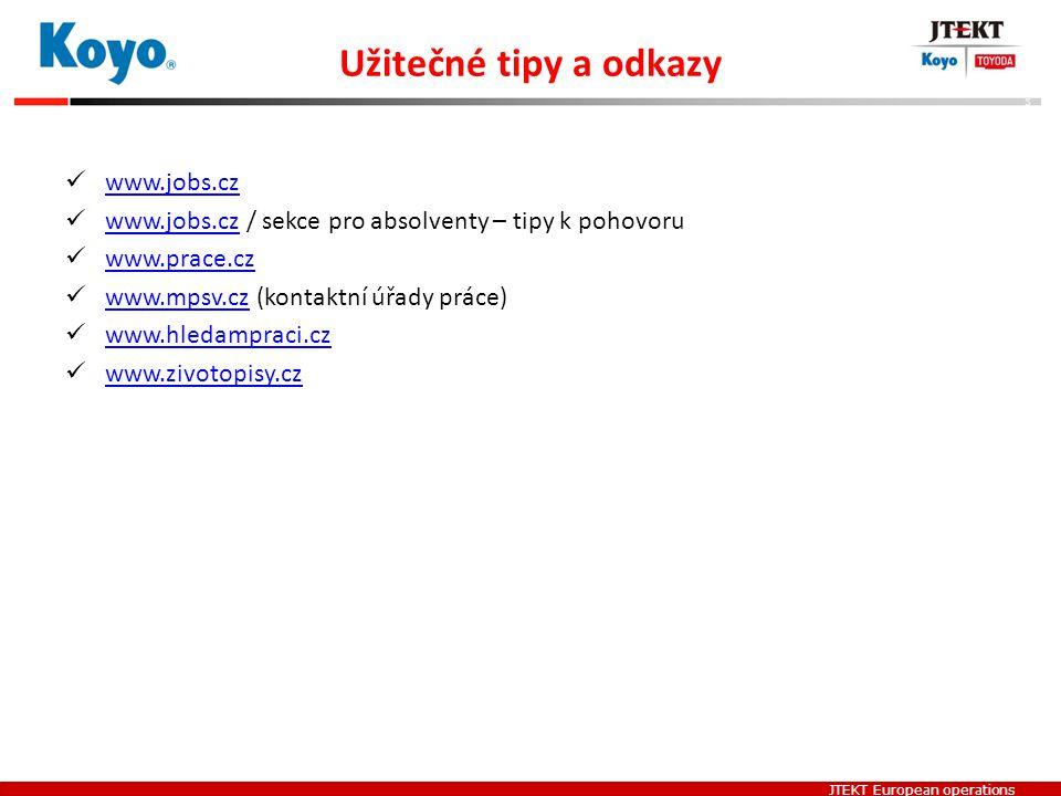Užitečné tipy a odkazy www.jobs.cz