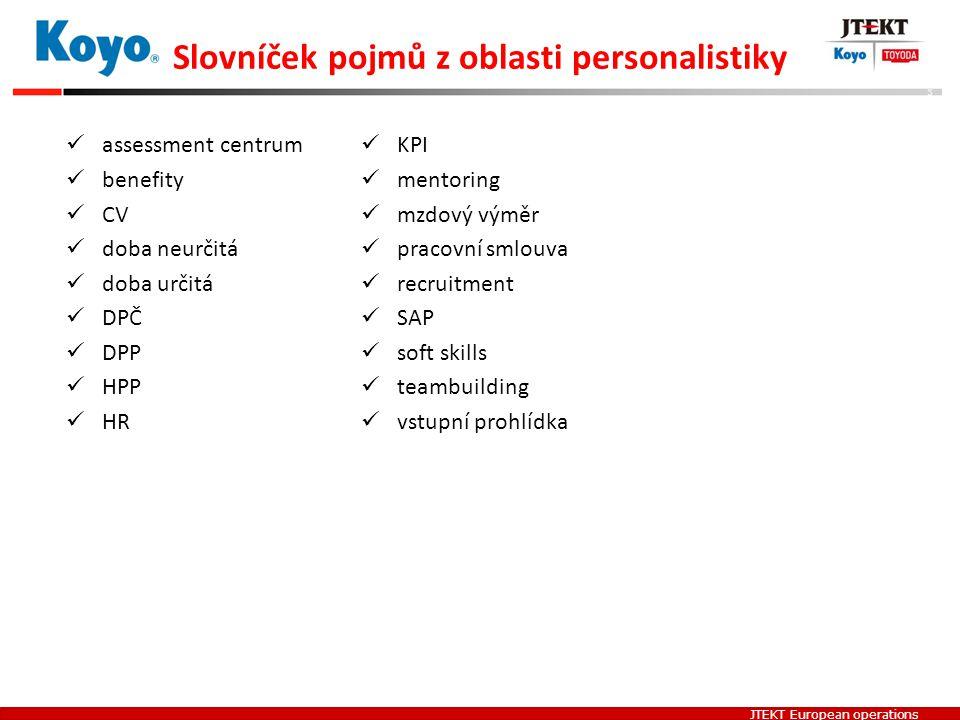 Slovníček pojmů z oblasti personalistiky