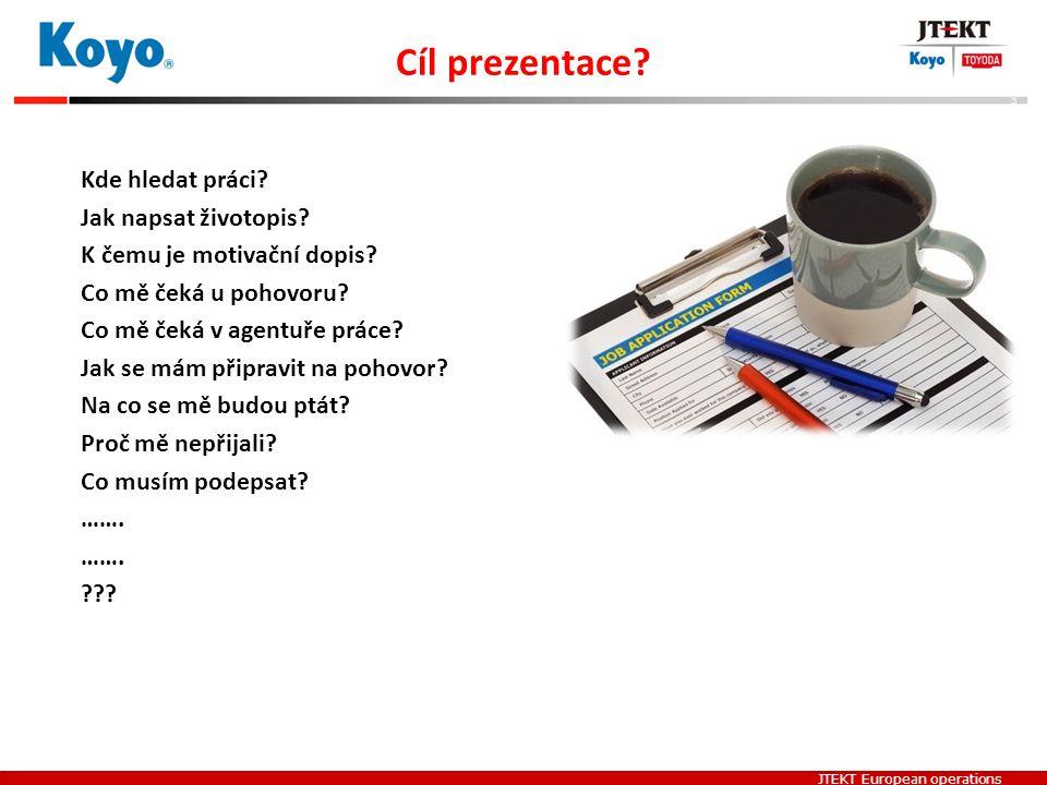 Cíl prezentace