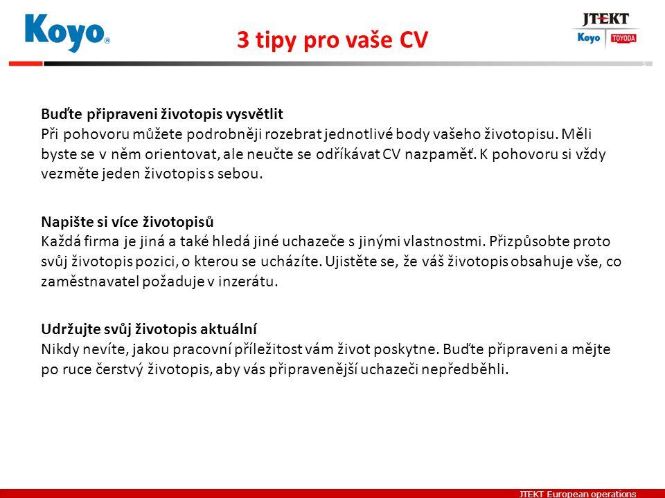 3 tipy pro vaše CV