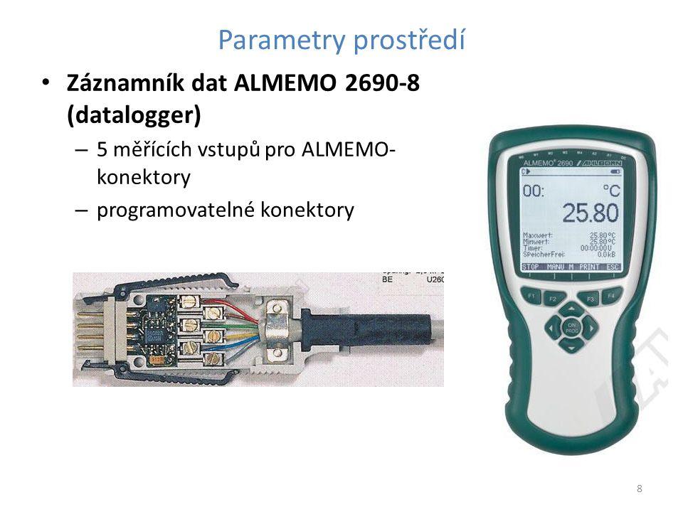 Parametry prostředí Záznamník dat ALMEMO 2690-8 (datalogger)