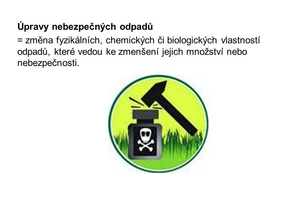 Úpravy nebezpečných odpadů