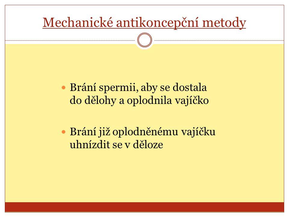 Mechanické antikoncepční metody