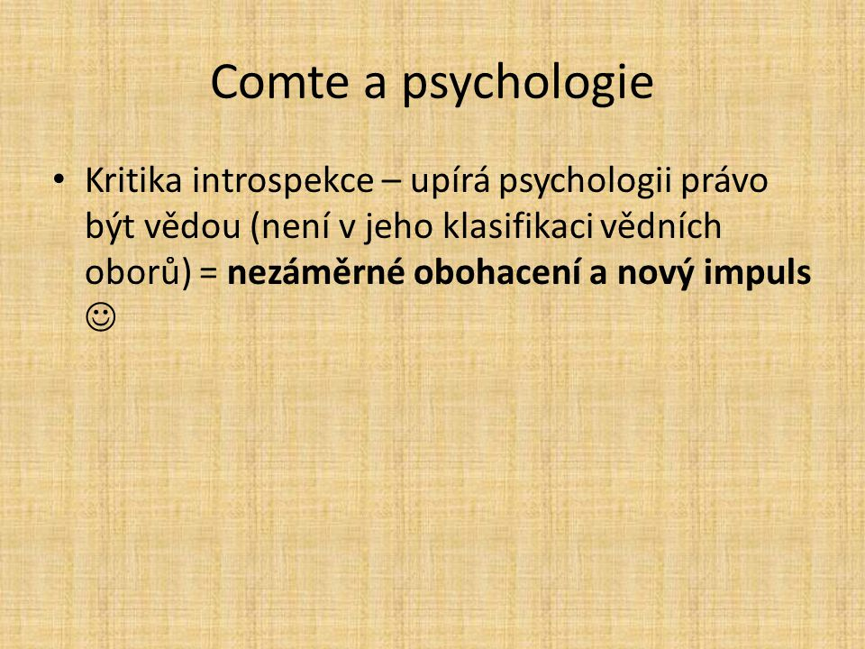 Comte a psychologie