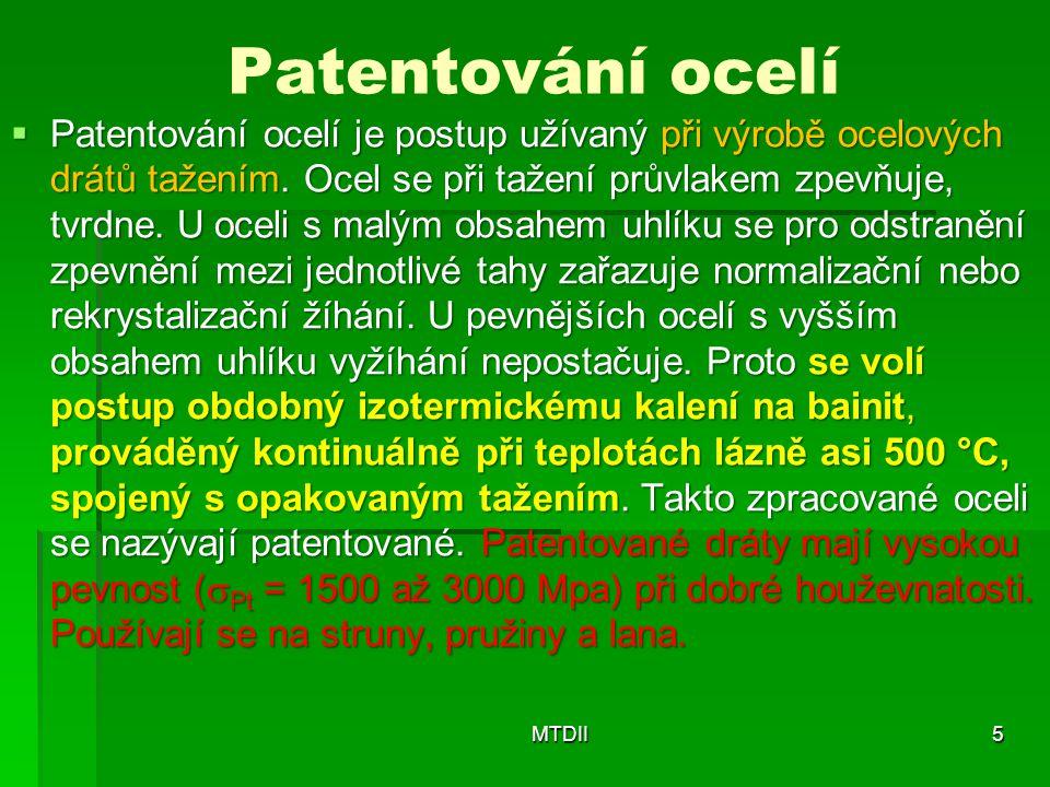 Patentování ocelí