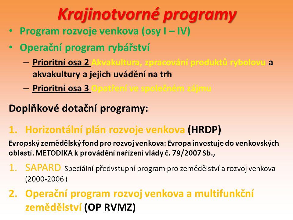 Krajinotvorné programy