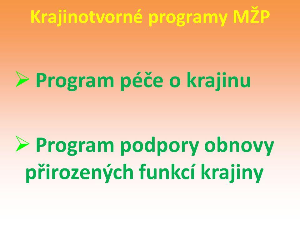 Krajinotvorné programy MŽP