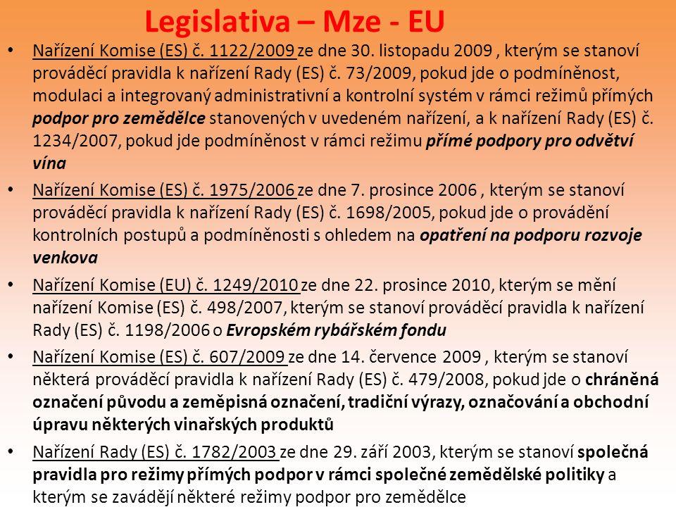 Legislativa – Mze - EU