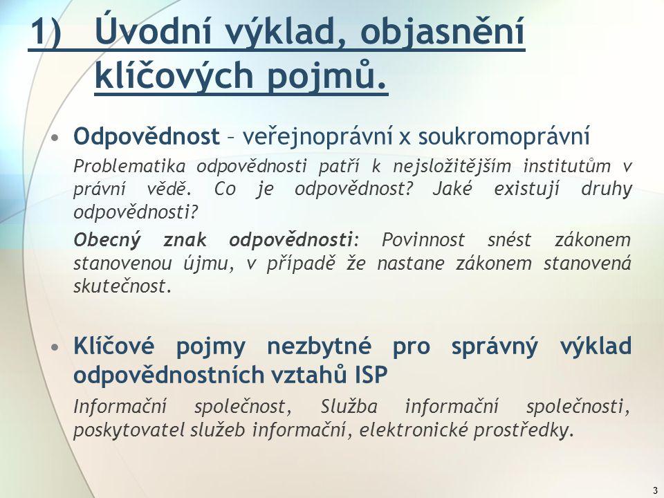 1) Úvodní výklad, objasnění klíčových pojmů.