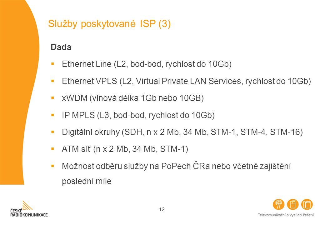 Služby poskytované ISP (3)