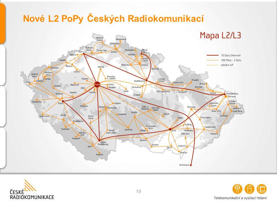 Nové L2 PoPy Českých Radiokomunikací