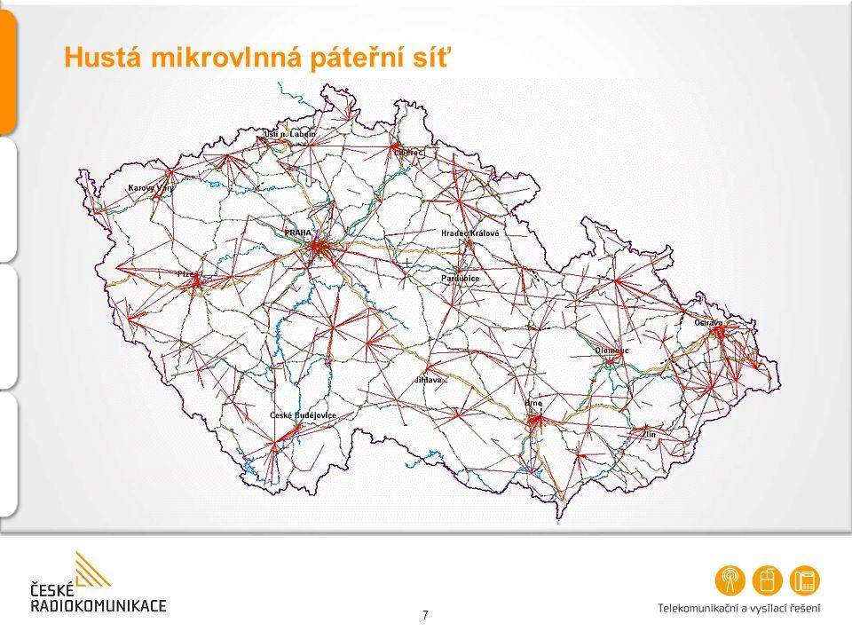Hustá mikrovlnná páteřní síť
