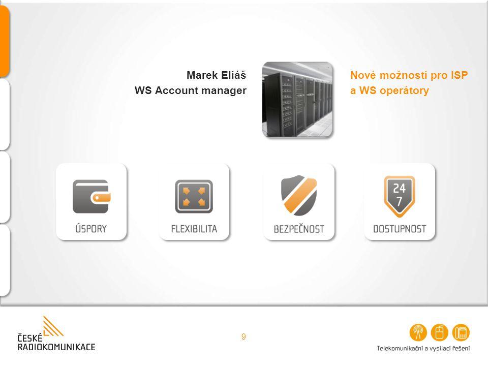 Marek Eliáš WS Account manager Nové možnosti pro ISP a WS operátory