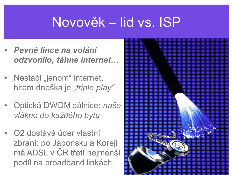 Novověk – lid vs. ISP Pevné lince na volání odzvonilo, táhne internet…