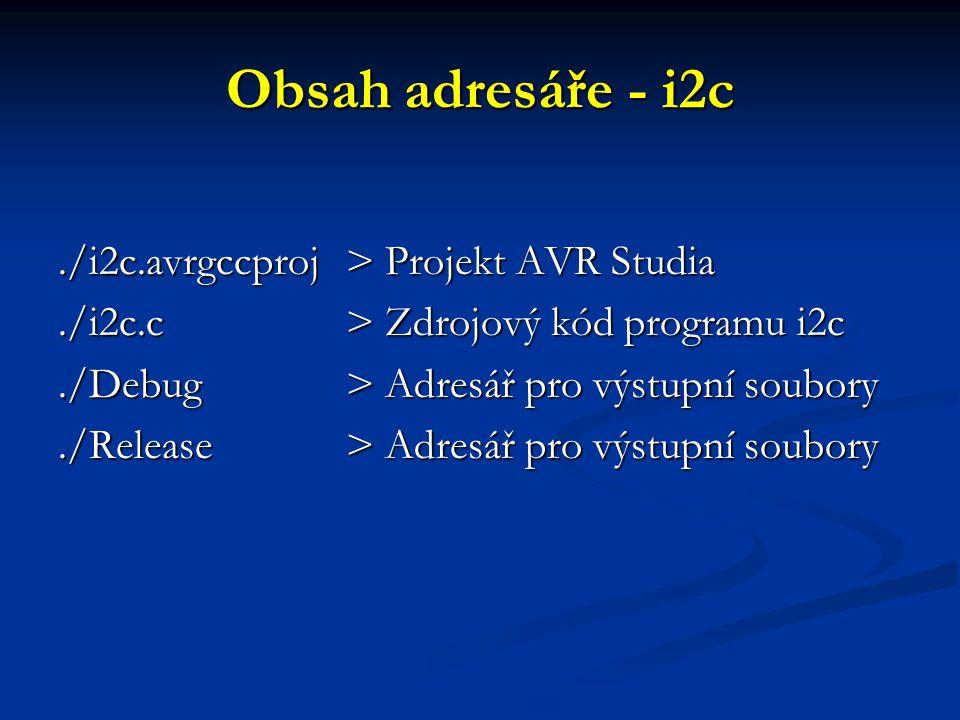 Obsah adresáře - i2c