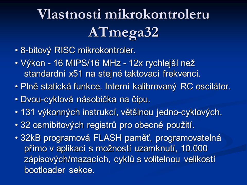 Vlastnosti mikrokontroleru ATmega32