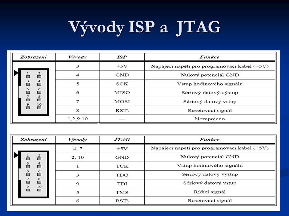 Vývody ISP a JTAG