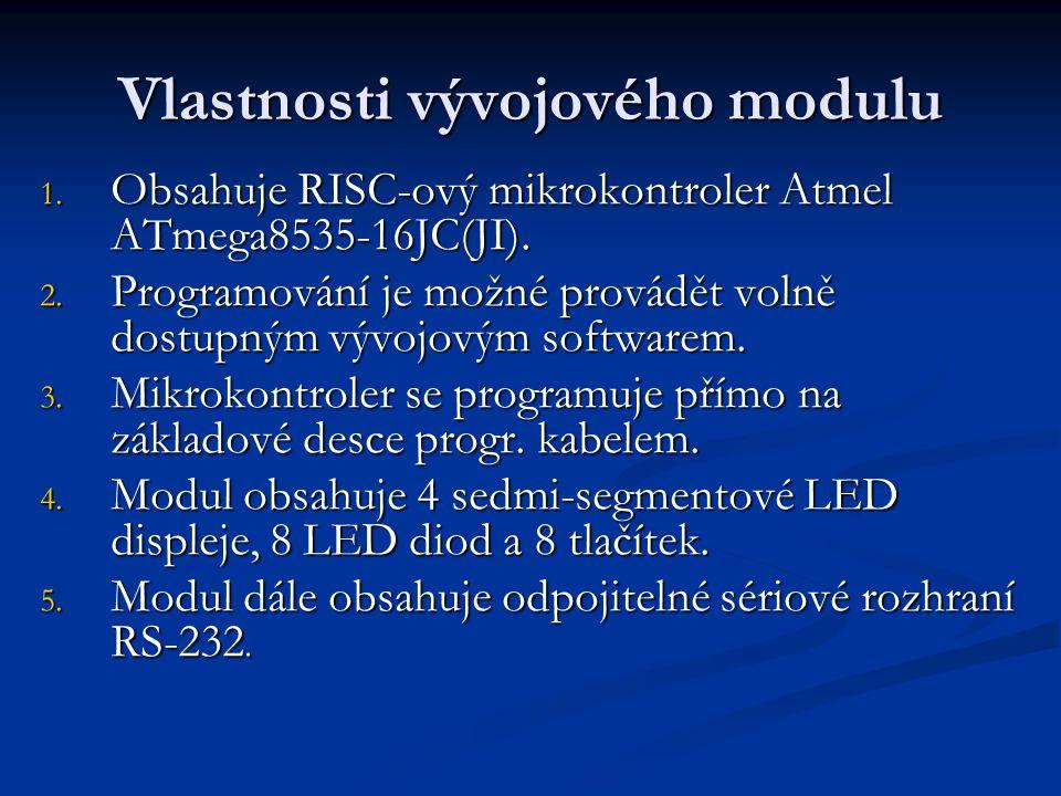Vlastnosti vývojového modulu