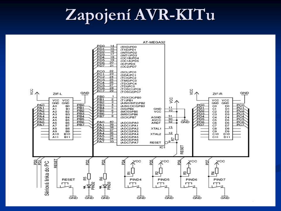 Zapojení AVR-KITu