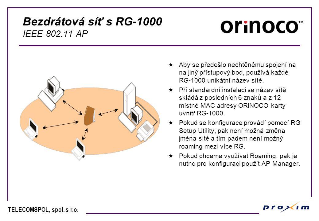 Bezdrátová síť s RG-1000 IEEE 802.11 AP