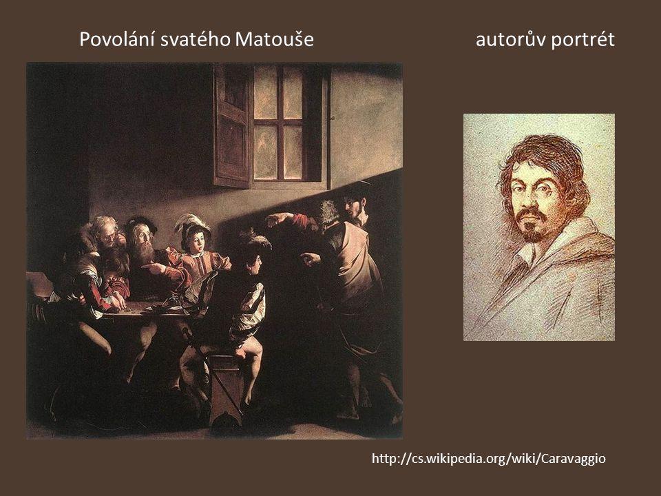 Povolání svatého Matouše autorův portrét