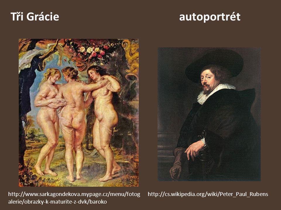 Tři Grácie autoportrét