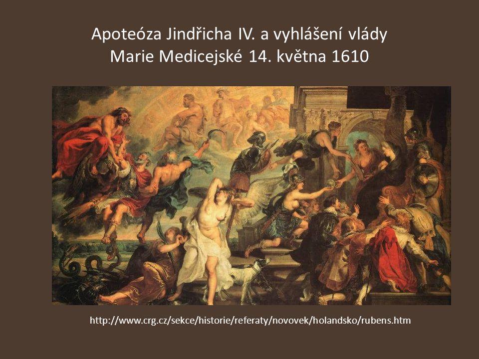Apoteóza Jindřicha IV. a vyhlášení vlády Marie Medicejské 14