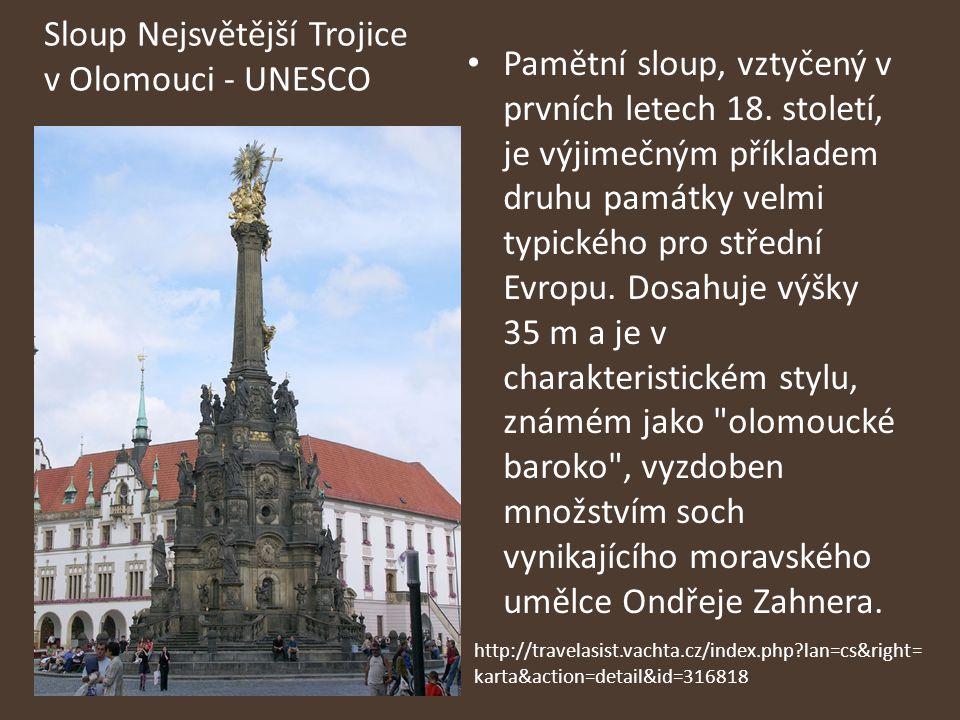 Sloup Nejsvětější Trojice v Olomouci - UNESCO