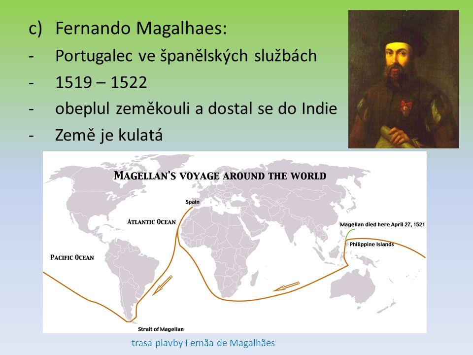 trasa plavby Fernãa de Magalhães