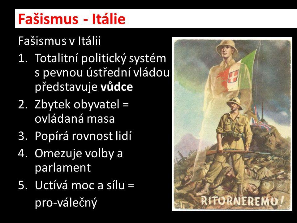 Fašismus - Itálie Fašismus v Itálii
