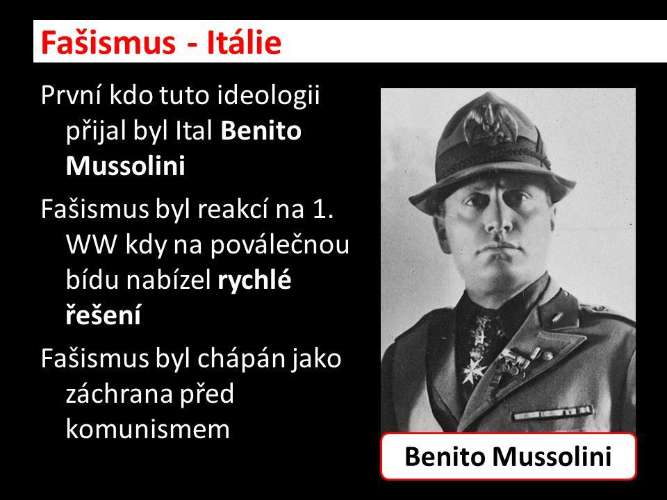 Fašismus - Itálie