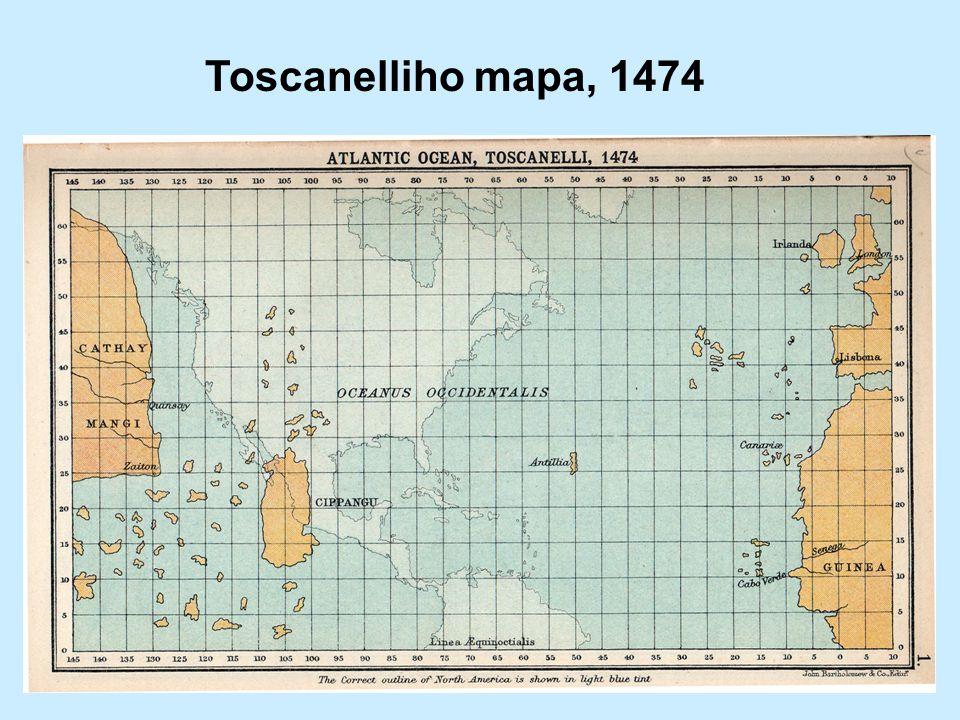 Toscanelliho mapa, 1474