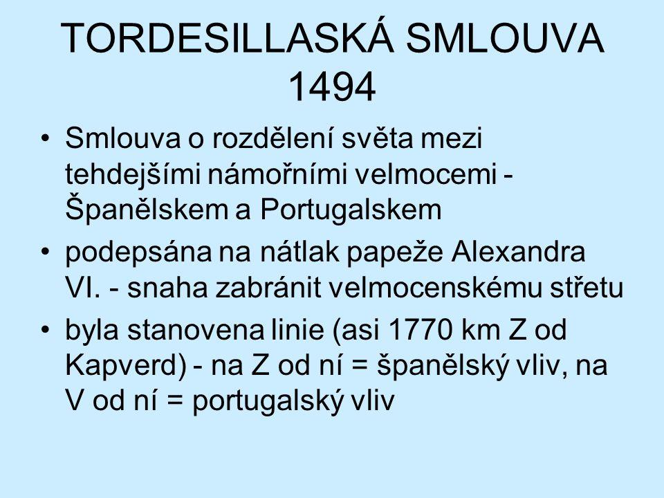 TORDESILLASKÁ SMLOUVA 1494