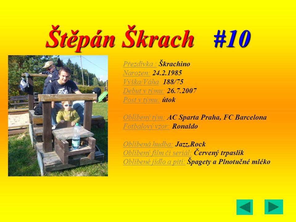 Štěpán Škrach #10 Přezdívka : Škrachino Narozen: 24.2.1985