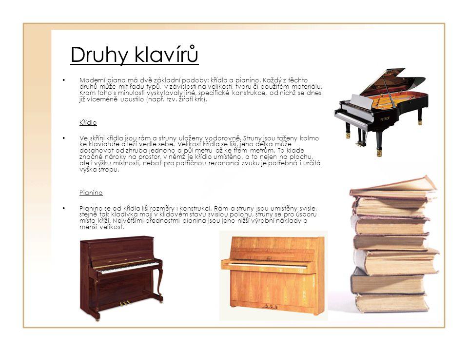 Druhy klavírů